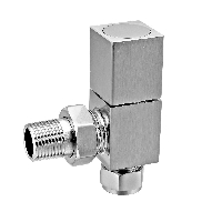 Eastgate Square Brushed Angled Radiator Valves (1 pair)